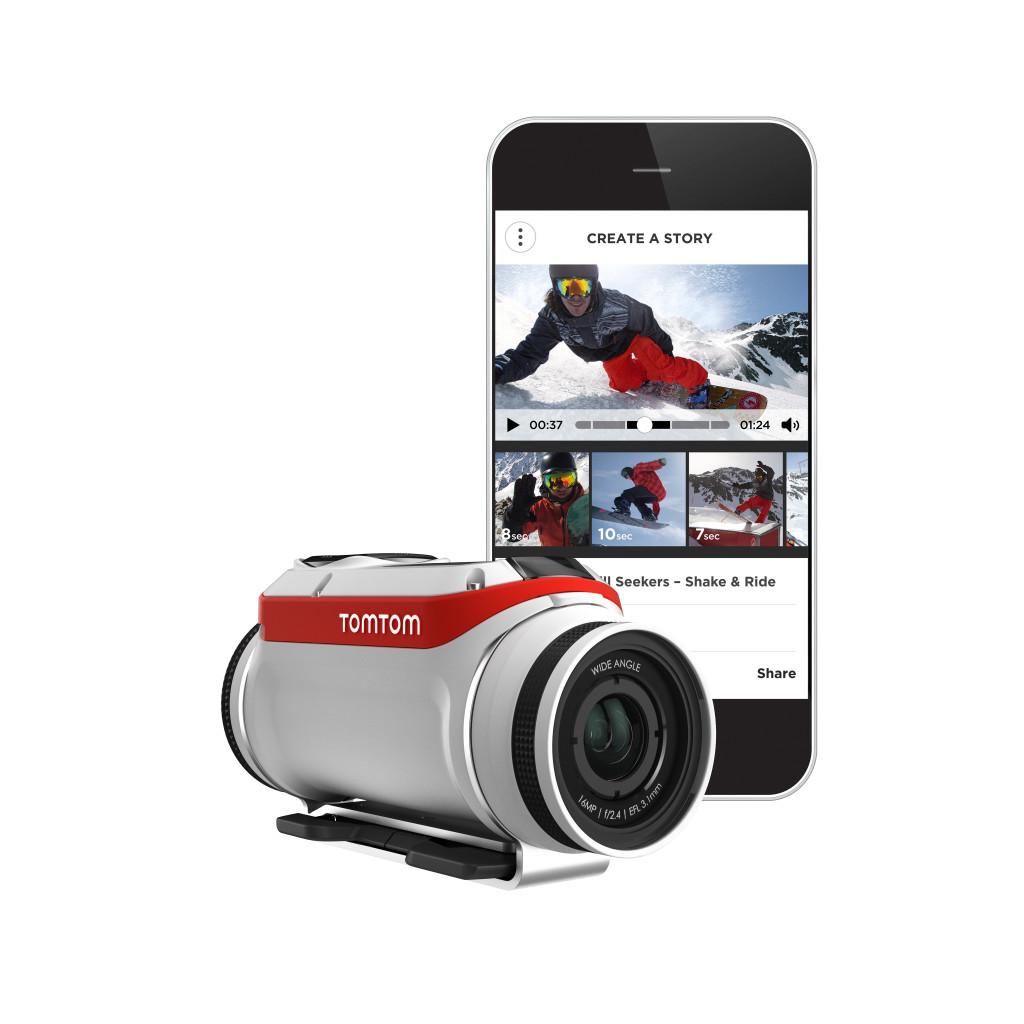 Die brandneue Actioncam von TomTom dient als Medienserver und erlaubt den schnellen Schnitt per Smartphone-App