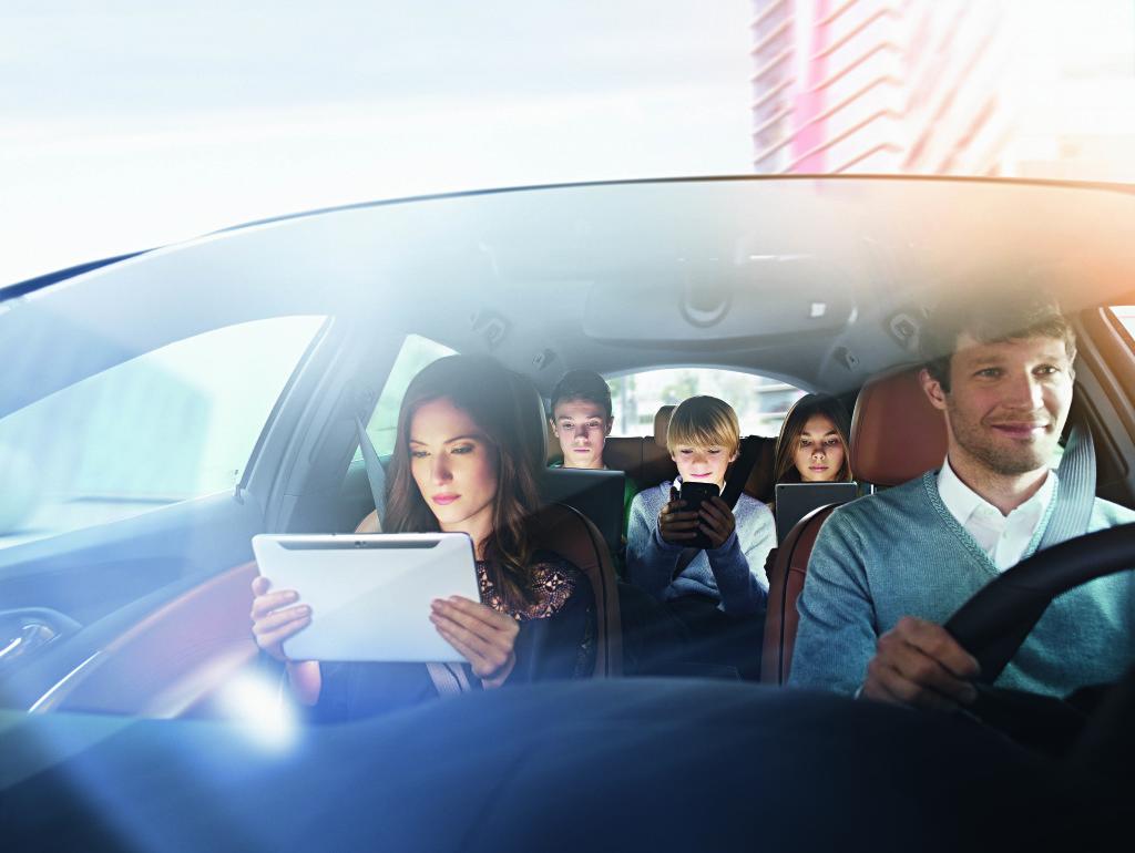 Der WLAN HotSpot macht nicht nur die Familie glücklich, sondern auch den Fahrer