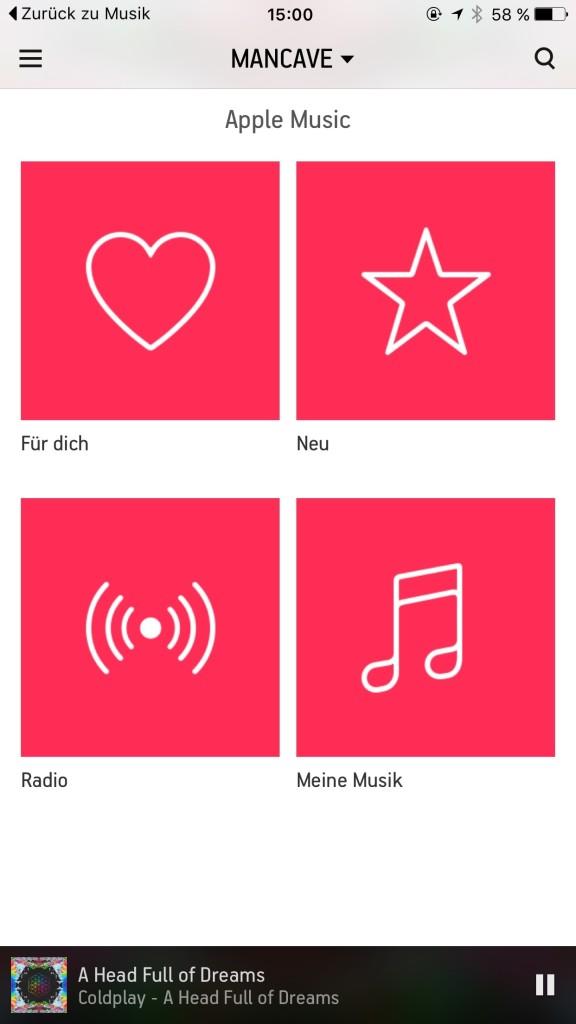 Apple Music integriert sich harmonisch in das bewährte Interface von Sonos