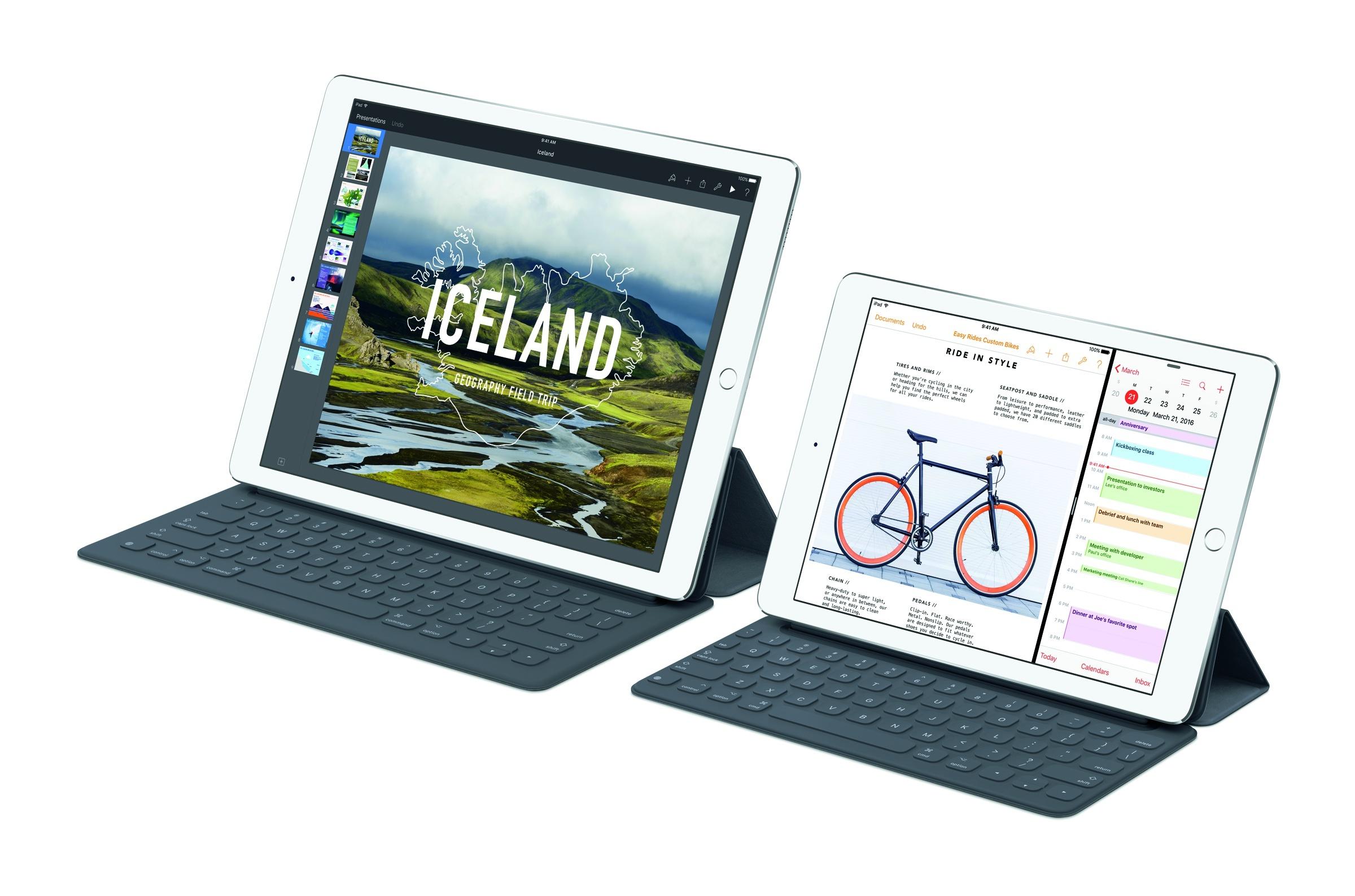 Da hat der Big Brother das Nachsehen, das iPad Pro mit 9,7 Zoll hat die bessere Kamera an Bord und wiegt gerade mal 444 Gramm