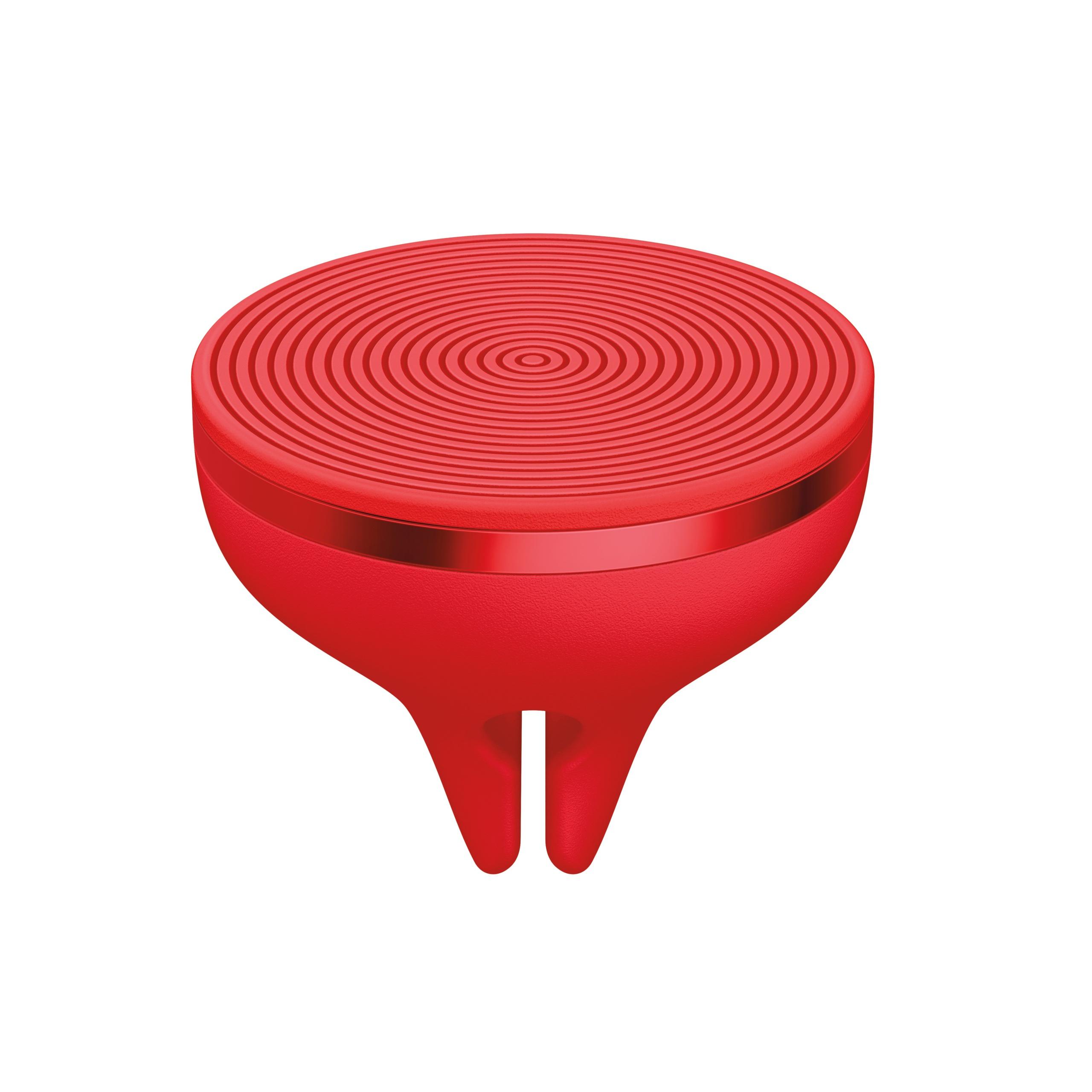 Der magnetische Halter kommuniziert per Bluetooth und startet die ZeroTouch App, sobald das Telefon an der Halterung sitzt