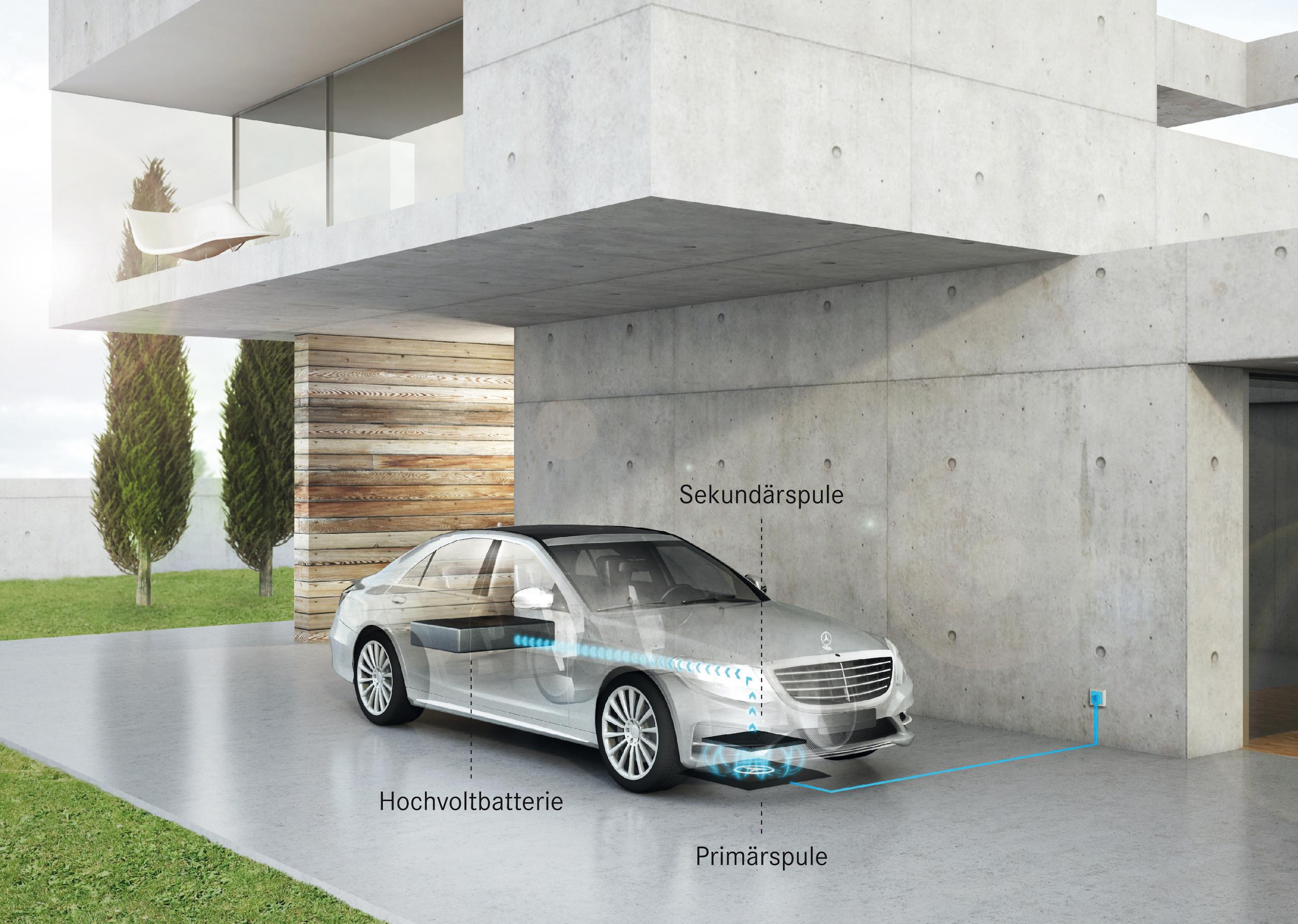 Die facegeliftete S-Klasse als Plug-in-Hybrid wird sich 2017 induktiv laden lassen wie ein Smartphone oder die elektrische Zahnbürste