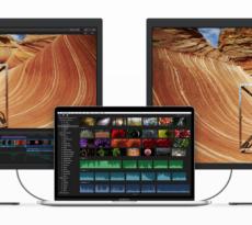 Mit zwei externen 5K-Monitoren ist man mit dem MacBook Pro Herr über 35 Millionen Pixel