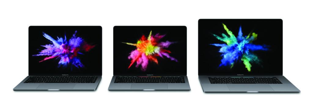13 Zoll ohne und mt Touch Bar, 15 Zoll mit Touchbar - das ist die neue MacBook Pro Familie