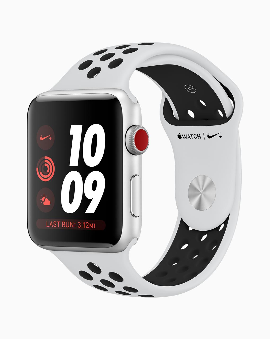 Im schicken Nike Outfit wirkt die Apple Watch Series 3 noch sportlicher